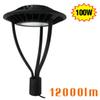 100W LED Circular Parking Area Light Pathway Lake Park Pole Garden Lights 5700K Bright White UL Approved