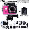"2x battery Mini Camcorder go hero pro style 1080p Full HD DVR SJ4000 30M Waterproof Action Camera 2.0""LCD Screen Free shipping"
