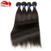 Hannah Hair Peruvian Virgin Straight Human Hair 3 Bundles 8A Virgin Straight Peruvian Human Hair Weave Extensions Natural Black Color