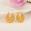 2 pairs gold Ethiopian Earrings for Women Girls Gold Jewelry Wholesale Fashion Africa Arab ItemsEarrings Middle East Gift baby jewelry