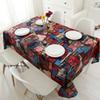 Art Printed Tablecloth Cotton and Linen Square Rectangular Home Wedding Decoration Table Runner chemin de table Christmas Gift