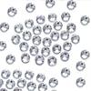 Wholesale-Shining 1000PCS Non Hotfix Glass Rhinestones Clear Crystal For 3D Nail Art Decoration Flatback Strass Stone Silver Color