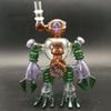 Robot glass bong water pipe educated color Glass bongs Dab oil rig with 14.4mm joint pipes free shipping