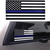 Thin Blue Line Flag Decal - 2.5*4.5inch American Flag Sticker for Cars and Trucks - Wall Window Stickers