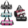 Pink Letter Handbags Travel Bags Beach Bag Duffle Striped Shoulder Bags Large Capacity Waterproof Fitness Yoga Bags