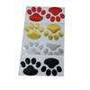 (40 pair lot ) Bear Paw Footprint 3D PVC Wholesale Funny Sticker For Car Truck Auto Paster Decal Art Car Styling Z-070910-5