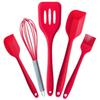 5pcs set Premium Kitchen Utensils Set Silicone Cooking Tool Set Kitchen Cooking Utensils Set in Hygienic Solid Coating FDA Approved