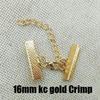 16mm Crimp kc Gold