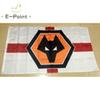 England Wolverhampton Wanderers FC Type B 3 5ft (90cm 150cm) Polyester EPL flag  Banner decoration flying home   garden flag Festive gifts. US  6.04 e0cf39bec