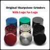 100% Original Sharpstone Grinders Metal Alloy Herb Grinders Tobacco Sharp stone Grinders 4Layers 40 50 55 63 75mm Big Grinder