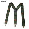 2017 New Men Adjustable 3.5cm Wide Heavy Duty Y-Back Hunters And Animals Suspenders For Mens