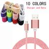 1.5M 5FT Braided Micro USB Cable Charger Durable Type C cable With Metal Head Plug Charging Popbrand Round Cables For Any Smart Phone