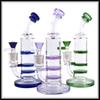 2018 new glass bong oil rig 3X Layer Honeycomb  tornado water pipe dab rigs bongs free shipping