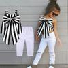 2018 Summer Baby Girls Outfits Girls Sets Plaid Kids Clothing Shoulder-straps Bow Stripe Top + Long Pants Child Outfits 2 Pcs