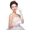 New Arrival Fashion Full Finger Below Elbow Length Appliques Bridal Gloves With Bow Bridal Wedding Gloves For Bride