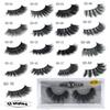 1Pair lot Eyelashes 3D Mink Eyelashes Crossing Mink Lashes Hand Made Full Strip Eye Lashes 17 Styles New Package cilios naturais