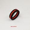 Schwarz mit rot