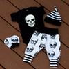 Puseky New 2017 Autumn Halloween Skull Baby Clothes Newborn Infant Boy Girl Romper Tops Leggings Pants Hat Outfit 4pcs 0-24M