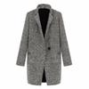 WEIXINBUY 2016 Vintage Women Autumn Spring Long Coat Parka Jacket Trench Wool Blends Lapel Outwear ZT1