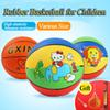 Outdoor Indoor Ball Toy Games 18 22 24cm Rubber Pelota Basketball with Pump Ball for Baby Child Children Kids Cartoon Ball Gifts