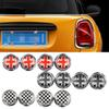 4Pcs set Car License Plate Fixed Bolt Screw Caps Emblem Decal For BMW Mini Cooper JCW One S Countryman Car Styling Accessories