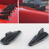 77*25MM Black Sale Carbon Fiber Texture Style Universal Roof Shark Fin Antenna Radio FM AM Decorate Aerial Fit For BMW Audi Honda VW Toyota