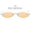 C5 Altın Çerçeve Açık Kahverengi Lens