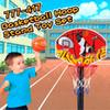 Hot Sale Basketball Hoop Stand Toy Set Adjustable 49.5 to 109cm in Height Children Outdoor Indoor Sports Train Equipment