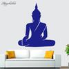 Muyuchunhua Sitting Buddha Wall Stickers Removable Wall Decal Chakra Mandala Mantra Chakra Meditation Sticker Decor Yoga Room