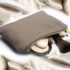 portable cosmetic bag big storage metal zipper pouch blank canvas makeup bag pouch case