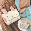 Mini Cute Rabbit Coin Purse Kids PU Leather Hasp Wallet Key Coin Bag Cartoon Fox Messenger Bags For Little Girl Gifts