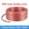 200 Core Speaker Wire Cable Audio Cable 2*100 Core DIY HIFI OFC Pure Oxygen-Free Copper For KTV Meeting Roo Public Speakers School Compny