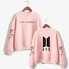 BTS Kpop Love Yourself Sweatshirt Women Korean Bangtan Boys K-pop TurtLeneck Harajuku Hoodies Women Fashion Hip Hop Fans Clothes