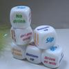 New Party Drink Decider Dice Games Pub Bar Fun Dice Toy Gift KTV Game Acrylic Drinking Dice 2.5cm 500pcs