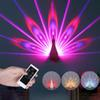 New Fashion 3D night Peacock Projection Light Home Wall Peacock USB Charging LED Colorful Projection Magical Light Home Party Decor