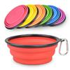 Big Size Portable Collapsible Dog Bowl Pet Travel Bowl Silicone Collapsible Feeding Water Dish big size water bowl 17.5*7cm