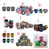 Hottest 810 Epoxy Resin Carbon Fiber Stripe Mushroom Sprial Sky Star TFV8 drip tip for 810 thread TFV12 Prince TFV8 Big Baby Tanks