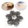 Snow flake Cookie Cutter Stainless Steel Baking Mold DIY Cookie Mould Fondant Biscuit XMAS Baking Decorating Tool 9Ppcs set