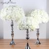 Silk flower ball artificial DIY all kinds of flowers heads wedding decoration wall hotel shop window table accessorie three size