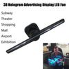 3D Hologram Advertising LED Fan, displaying 3D Holographic Photos and Videos, Promotional Advertising Player Machine Holograma Holograma Pro