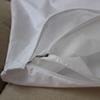 double layer cotton and non-woven fabric white pillowcase with zip pillow cover with zipper Pillow Case