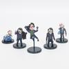 Anime The Dark Knight Joker 5pcs set PVC Action Figure The Collectible Model Toy 3.5~5.8cm Children Gift