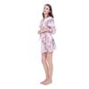 Silk Satin Wedding Bride Bridesmaid Floral Bathrobe Short Kimono Robe Night Robe Bath Robe Fashion Dressing Gown For WomenAEI-205