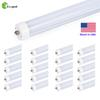 Zoopod 20 Pack 8FT T8 36W 6500K LED Light FA8 Single Pin Fluorescent Replacement Milky   Clear CE RoHS