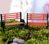 Crafts 50pcs Mini Modern Park Benches Miniature Fairy Garden Miniatures Accessories Toys for Doll House Courtyard Decoration