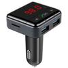 FM Transmitter,APP Bluetooth Wireless Radio Adapter Audio Receiver Stereo Music Modulator Car Kit with USB Charger, Hands Free Calling gift