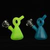 Glow in the Dark Bong Mini Heady Glass Bong Smoking Water Pipe Dab Oil Rig 10mm Glass Bowl 3.5inch Water Bong Accessories