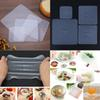 2018 4pcs Food Fresh Keeping Saran Wrap Kitchen Tools Reusable Silicone Food Wraps Seal Vacuum Cover Stretch Lid Kitchen Accessories