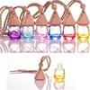 6 ml Car Scenter Car Air Freshener Decoration Essential Oil Perfume Empty Bottle Hang Rope Pandent Aromatherapy Diffuser