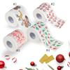 Christmas Household Wood Pulp Toilet Paper Santa Claus Printed Toilet Napkins Roll Paper Tissue Table Decor Maternity Supplies GGA1354